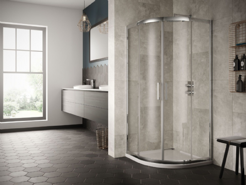 Sommer 8 Double Door Quadrant Shower Enclosure 800mm - Tray Option